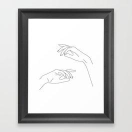 Hands line drawing - Bel Framed Art Print
