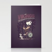 vikings Stationery Cards featuring Vikings by hugraphic