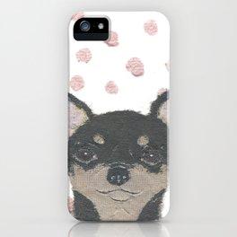 CHIHUAHUA, Dog, Black and Tan Chihuahua iPhone Case