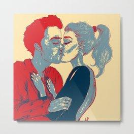 Everytime We Kiss  Metal Print