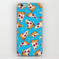 pizza iPhone & iPod Skins featuring pizza by Erin Lowe