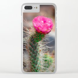 Blooming Cactus Clear iPhone Case