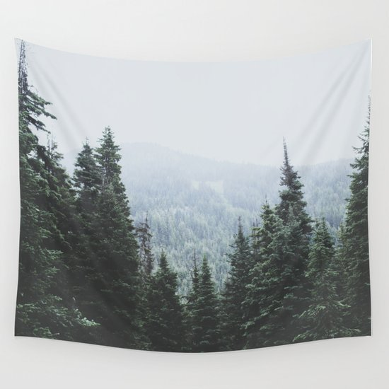 Forest Window Wall Tapestry