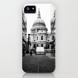 St Paul's Cathedral London Black and white iPhone Case