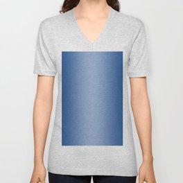 Blue to Pastel Blue Vertical Bilinear Gradient Unisex V-Neck