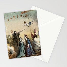 Raphael's Prophetic Almanack: an shipwreck, Cholera, and Hibernia with Britannia (1872) Stationery Cards