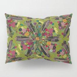 bohemian posy green Pillow Sham