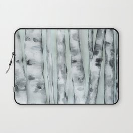 Birch trees in winter Laptop Sleeve