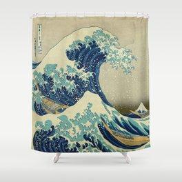 The Great Wave Off Kanagawa by Katsushika Hokusai (c. 1830) Shower Curtain
