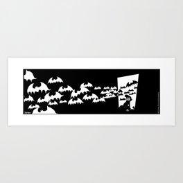 The Bats Come Home Art Print