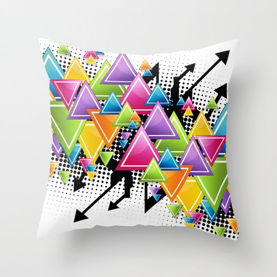 Vector Funk!  Throw Pillow