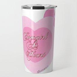 """""""Cowgirl At Heart II"""" Travel Mug"""