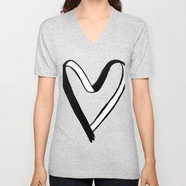 Heart Ribbon Unisex V-Neck