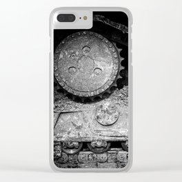 Ivan Caterpillar Track Black and White Clear iPhone Case