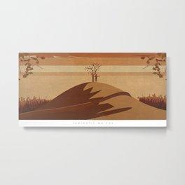 Minimalist Fantastic Mr.Fox Metal Print