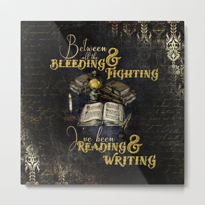 Reading & Writing Metal Print