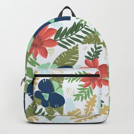 Hawaiian Flowers Pattern Backpack