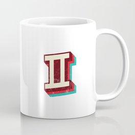 Gemini Symbol - Vintage Stripes Coffee Mug