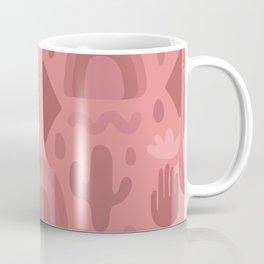 Mauve Cutout Print Coffee Mug