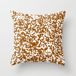 Small Spots - White and Brown Throw Pillow