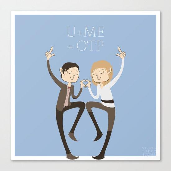 U + ME = OTP (of the TARDIS) Canvas Print