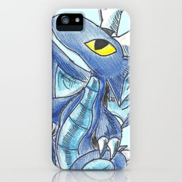 Baby Sapphire Dragon iPhone Case