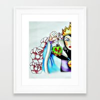 evil queen Framed Art Prints featuring Evil Queen by Bernadette Woods