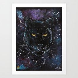 Puma painting on black paper Art Print