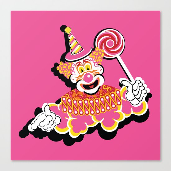 Retro Clown Canvas Print