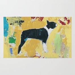 Boston Terrier Painting Art Rug