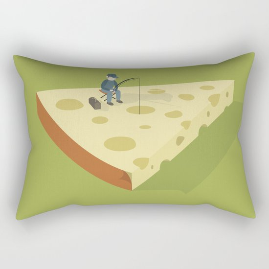 Slice fishing Rectangular Pillow