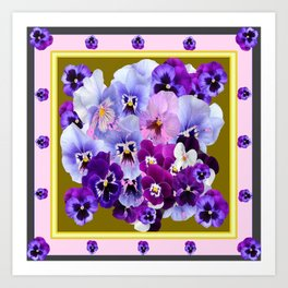 COLORFUL SPRING  PANSIES GARDEN COLLECTION Art Print