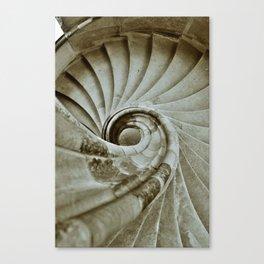 Sand stone spiral staircase 10 Canvas Print