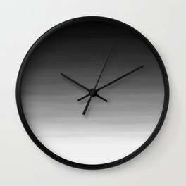 Black and White Haze Abstract Ombre Wall Clock