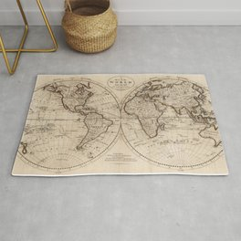 Old Fashioned World Map (1795) Rug