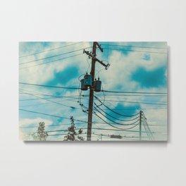 Suburban Skies Metal Print