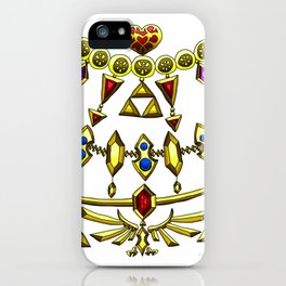 LOZ Design #5 - Gold Gems of Hyrule iPhone Case