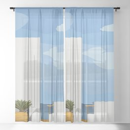 Postcards from Paradise Sheer Curtain