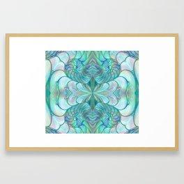 Abalone Shell Nautilus Kalidescope Framed Art Print