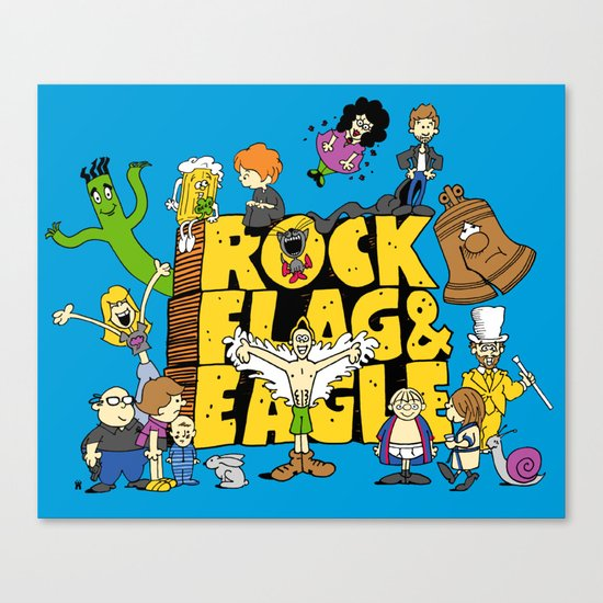 Rock, Flag & Eagle Canvas Print
