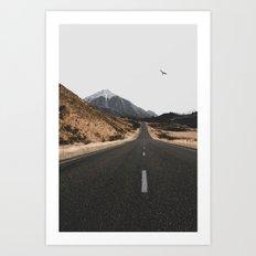 ROAD - BIRD - HILLS Art Print