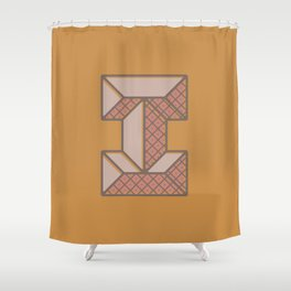 BOLD 'I' DROPCAP Shower Curtain