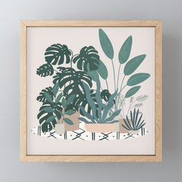 houseplant gang Framed Mini Art Print