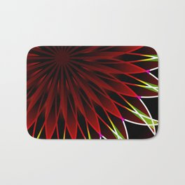 Neon flower mandala Bath Mat