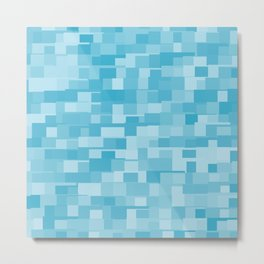 abstract square mosaic background Metal Print