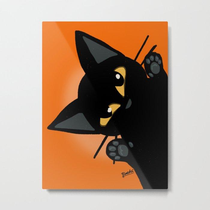 Peek-a-boo Metal Print