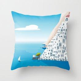 Positano Fantasy Throw Pillow