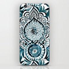 Mandala Medallion Deep Teal iPhone & iPod Skin