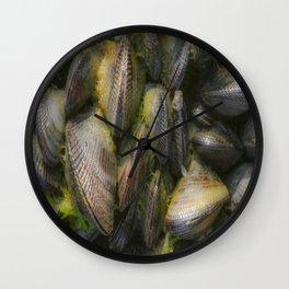 Blue Mussels Wall Clock