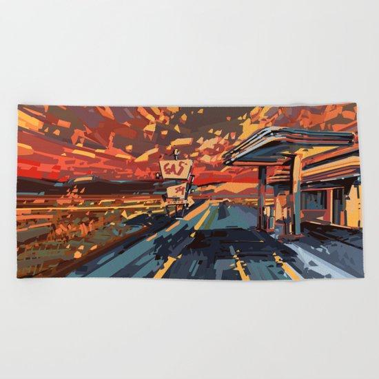 american landscape 7 Beach Towel